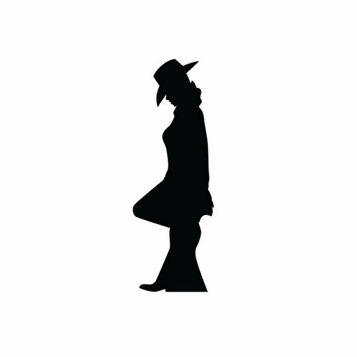 Cowgirl Leaning Silhouette Cardboard Cutout