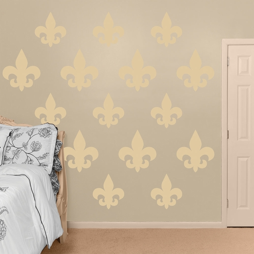 Cream Fleur de Lis Collection REALBIG Wall Decal