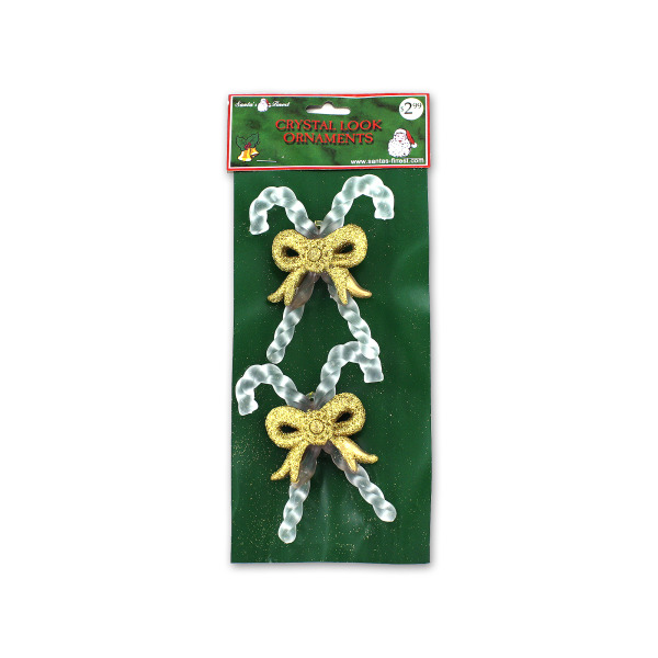 Crystal-Look Candy Cane Ornaments