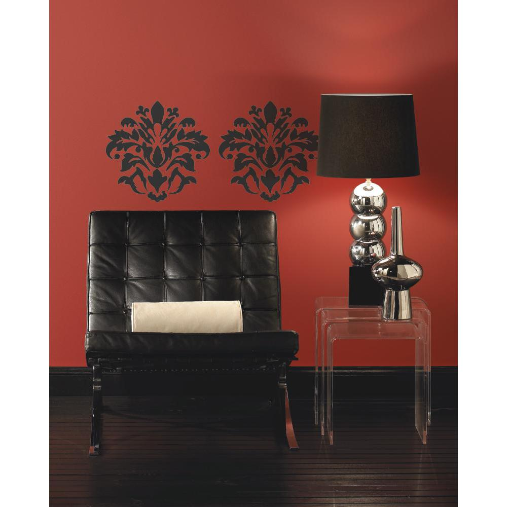 Damask (Black) Peel And Stick Decal