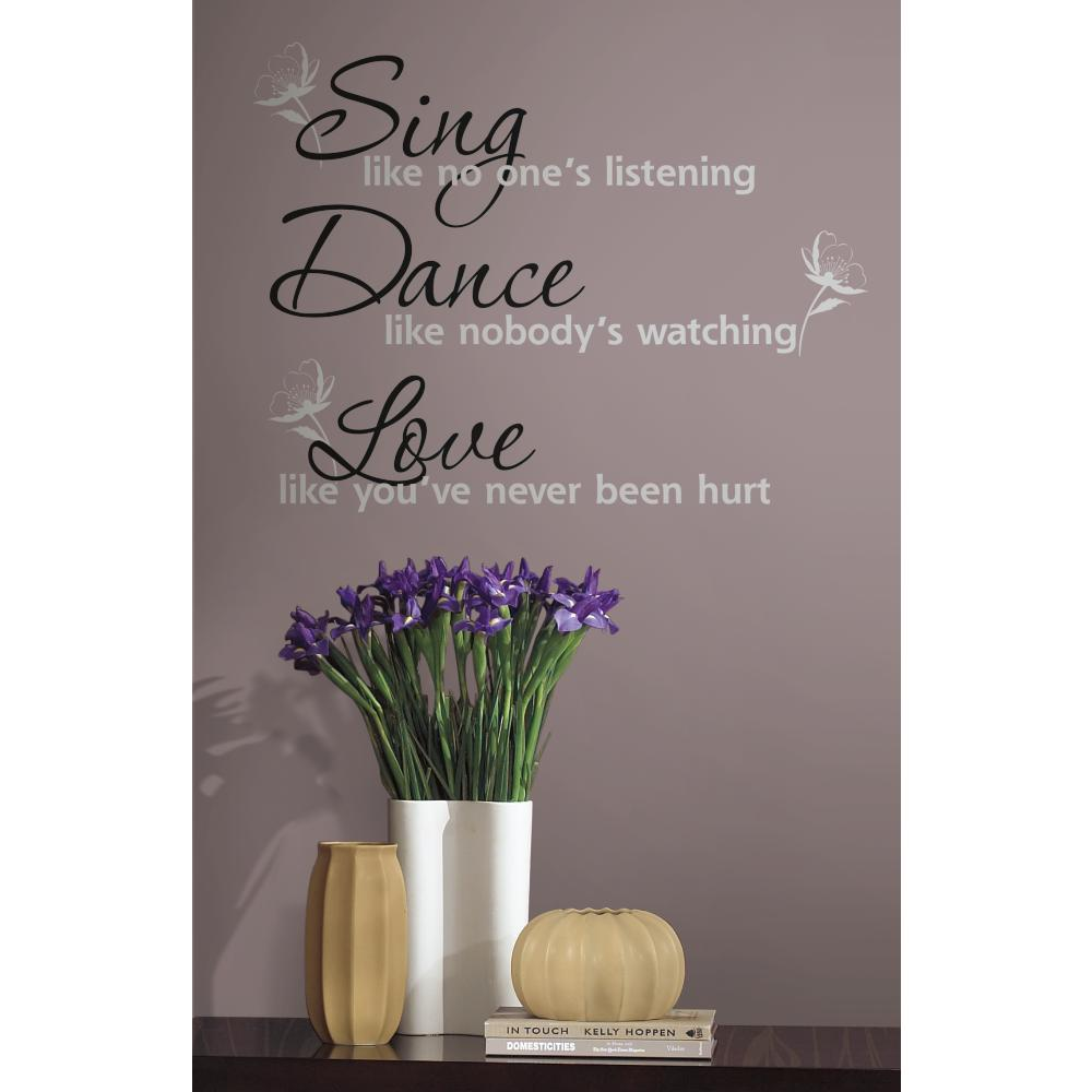 Dance Sing Love Peel And Stick Decal