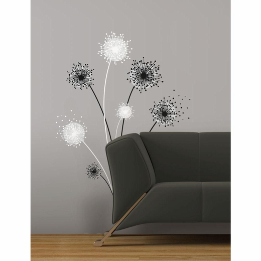 Dandelion Peel And Stick Giant Wall Decal