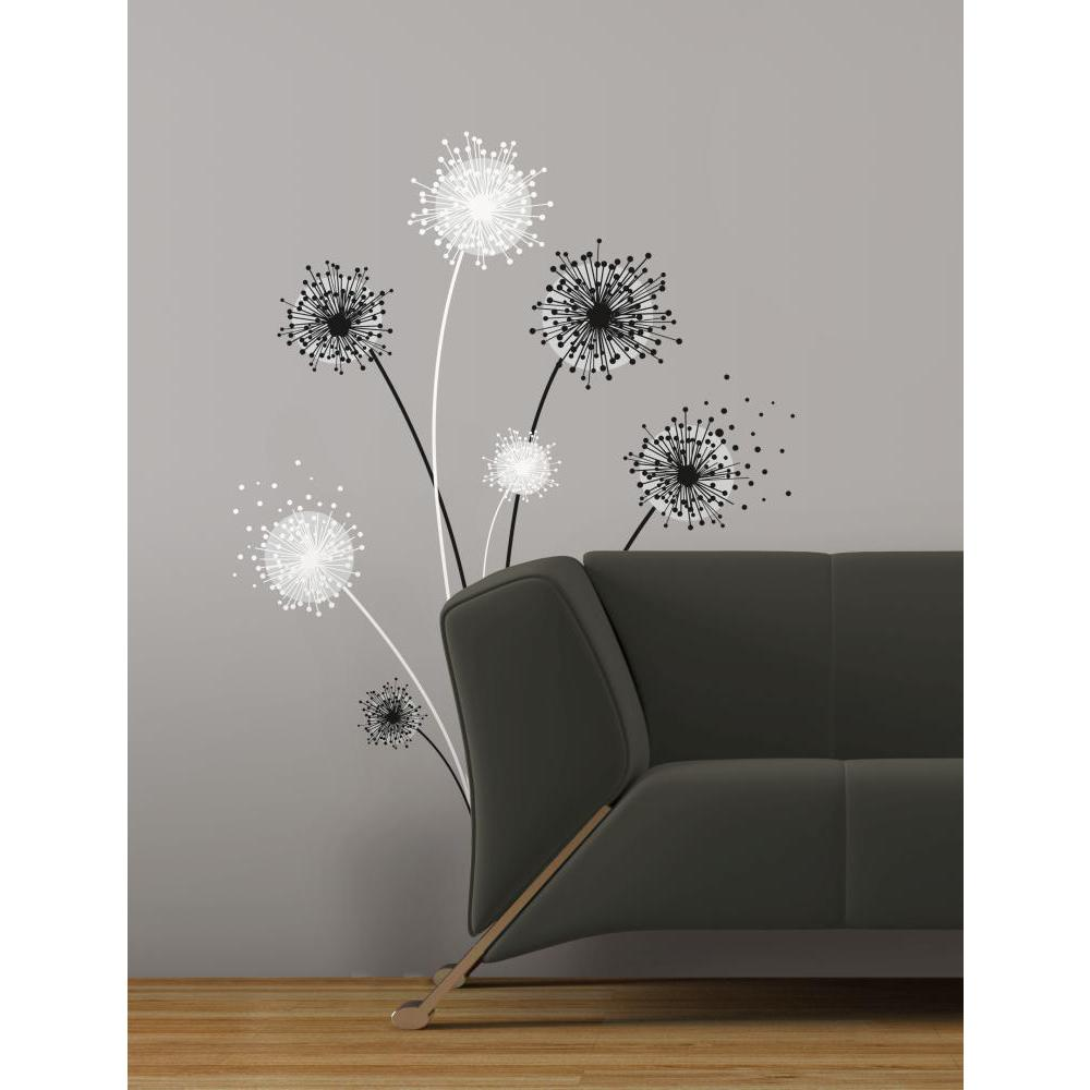 dandelion peel and stick giant wall decal. Black Bedroom Furniture Sets. Home Design Ideas