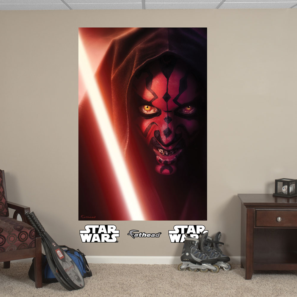 Darth Maul Mural REALBIG Wall Decal