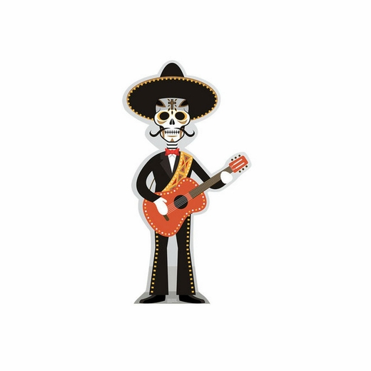 Day of the Dead Guitar Player Cardboard Cutout