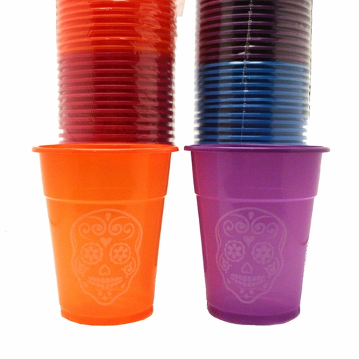 Day Of The Dead Plastic Disposable Cups