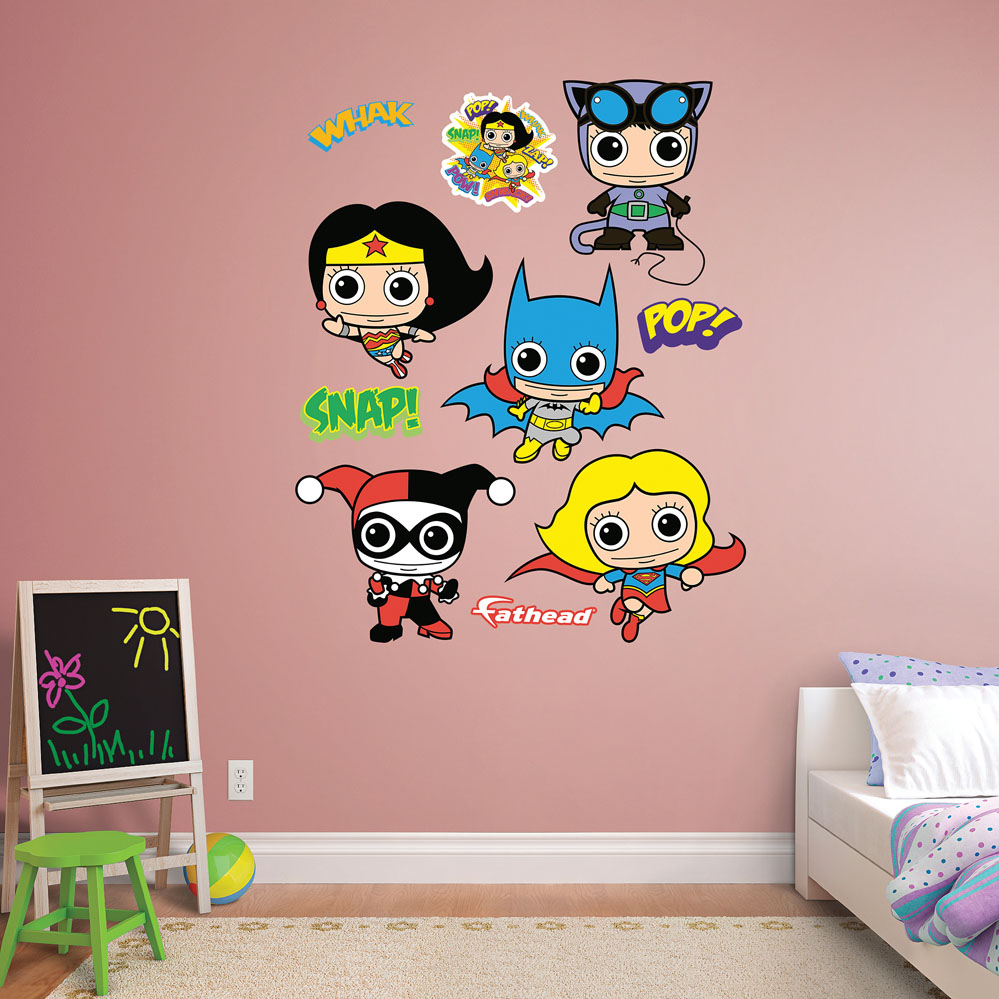 DC Comics Girl Power Collection REALBIG Wall Decal
