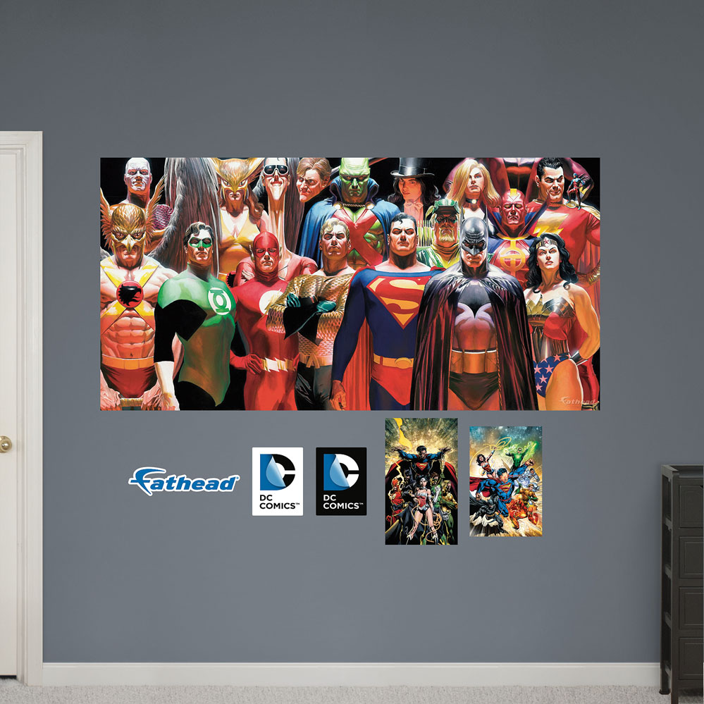 DC Comics Heroes Mural REALBIG Wall Decal