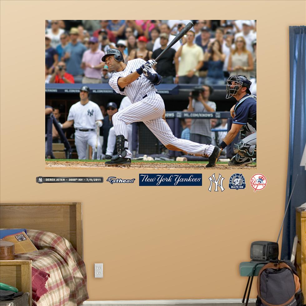 Derek Jeter 3000th Hit Mural-Fathead