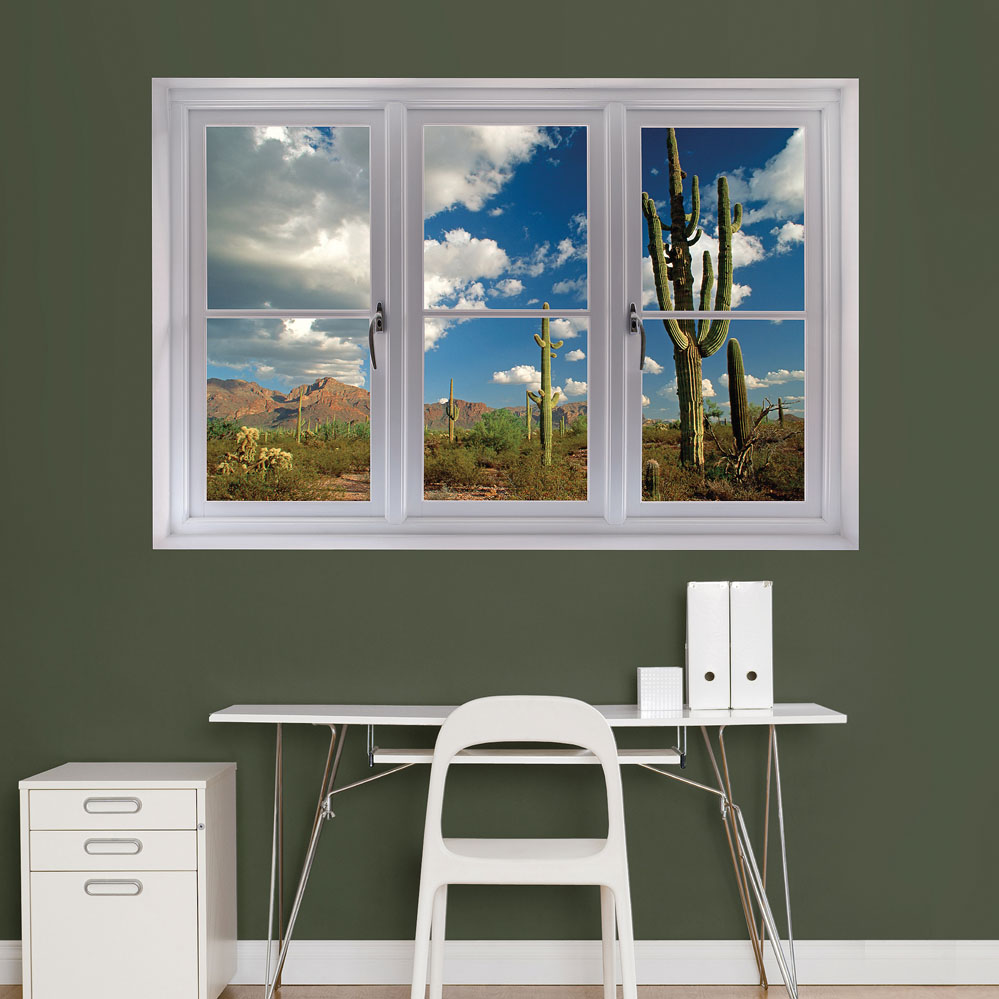 Desert Cactus Sceninc Window REALBIG Wall Decal