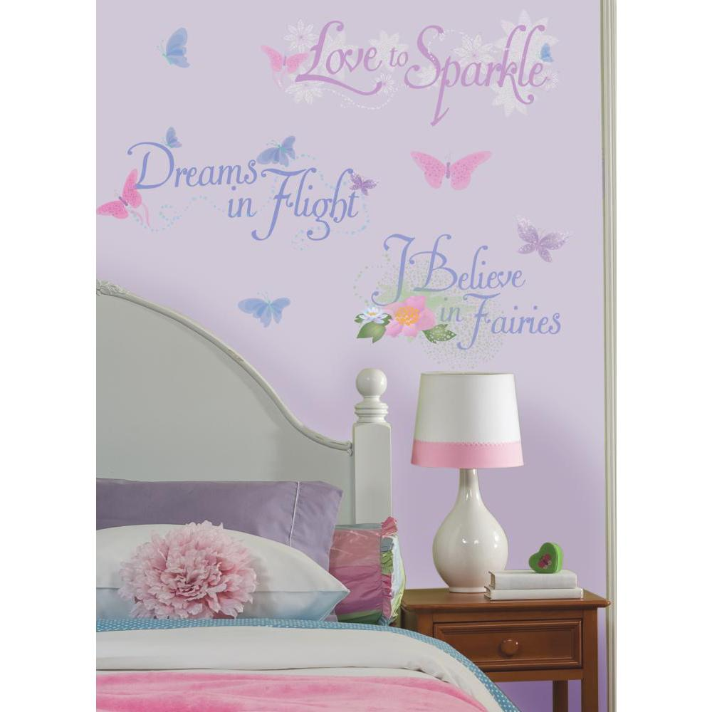 Disney Fairies Phrases Peel And Stick Wall Decal