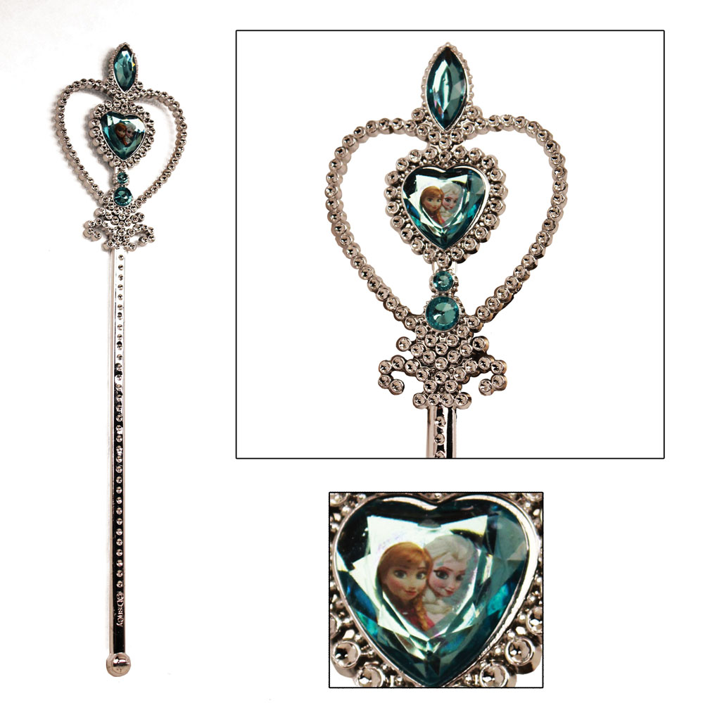 Disney frozen wand silver with blue elsa and anna heart for Anna wand