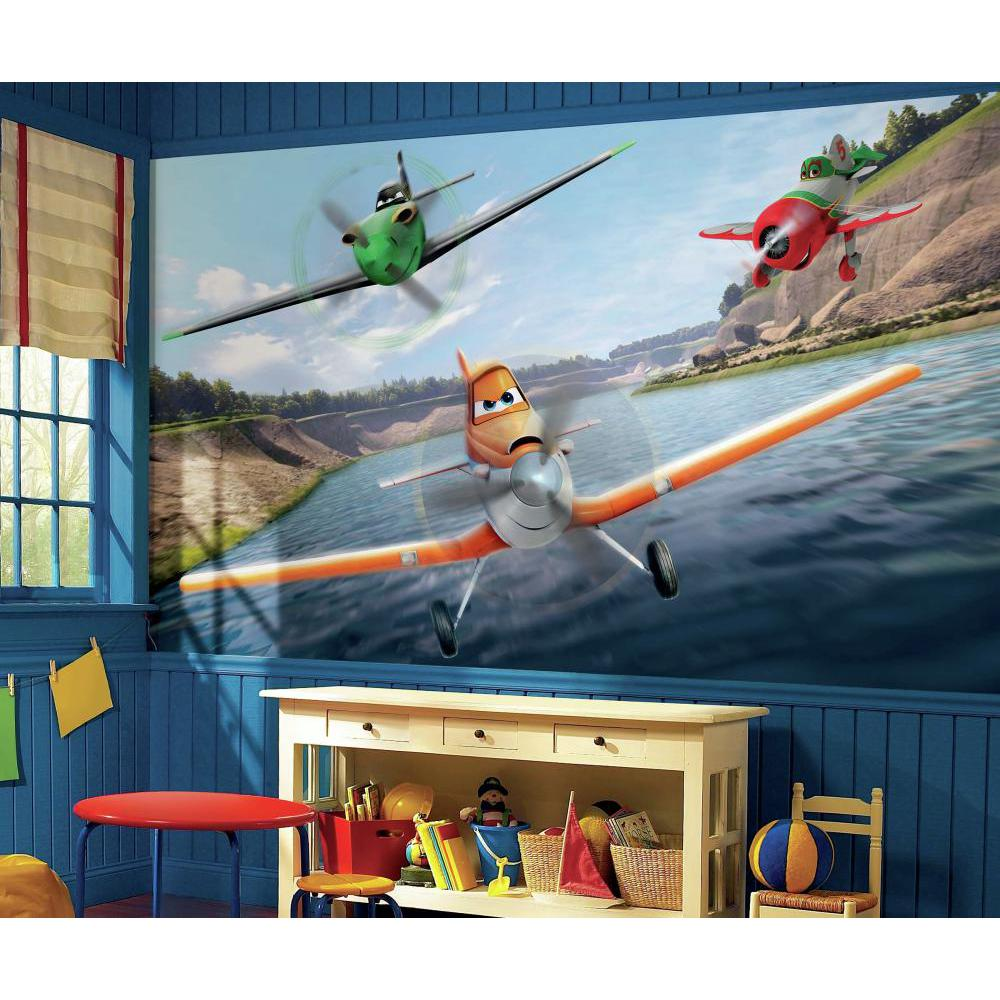 Disney planes xl chair rail for Disney planes wallpaper mural