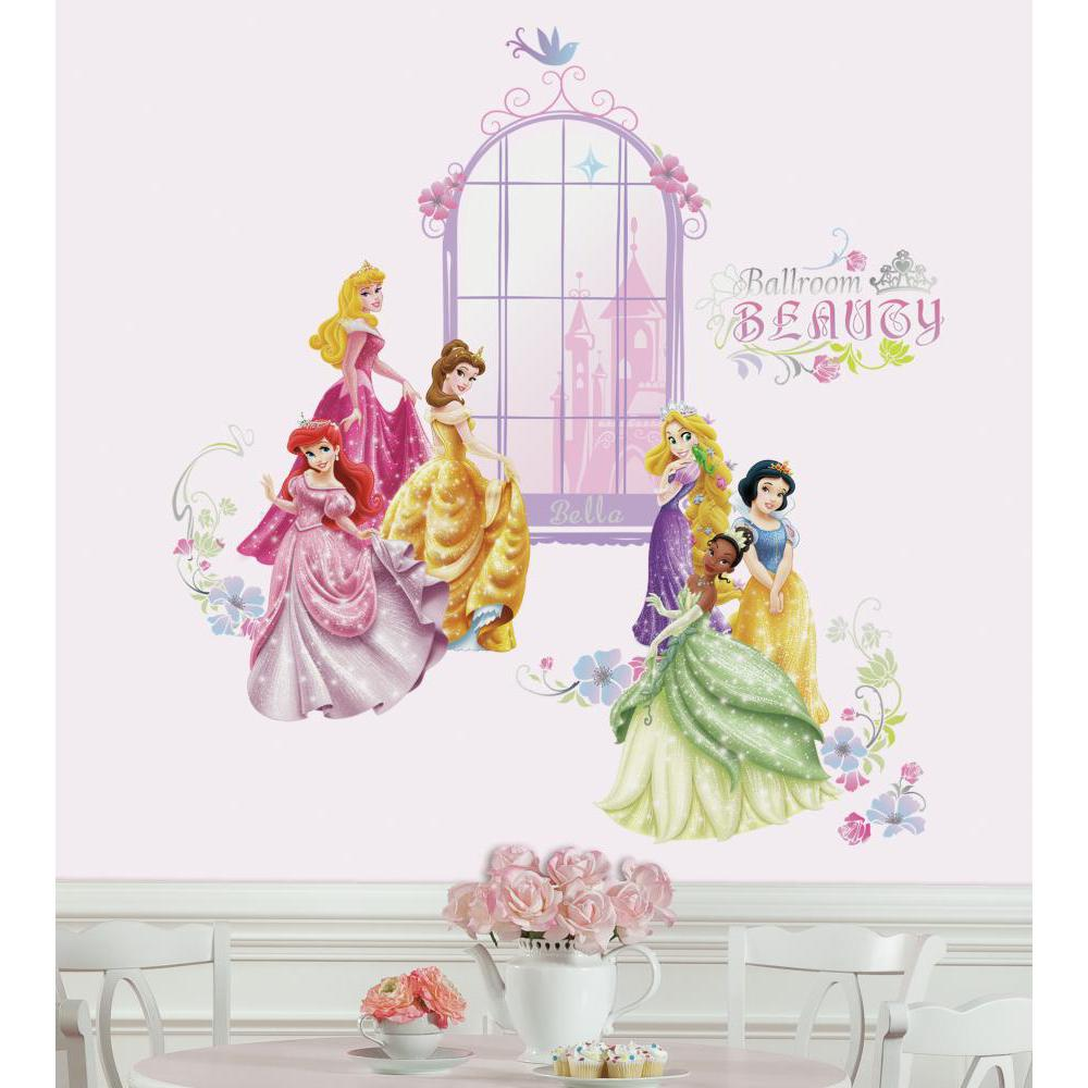 Disney Princess Collage Decal w-Personalization