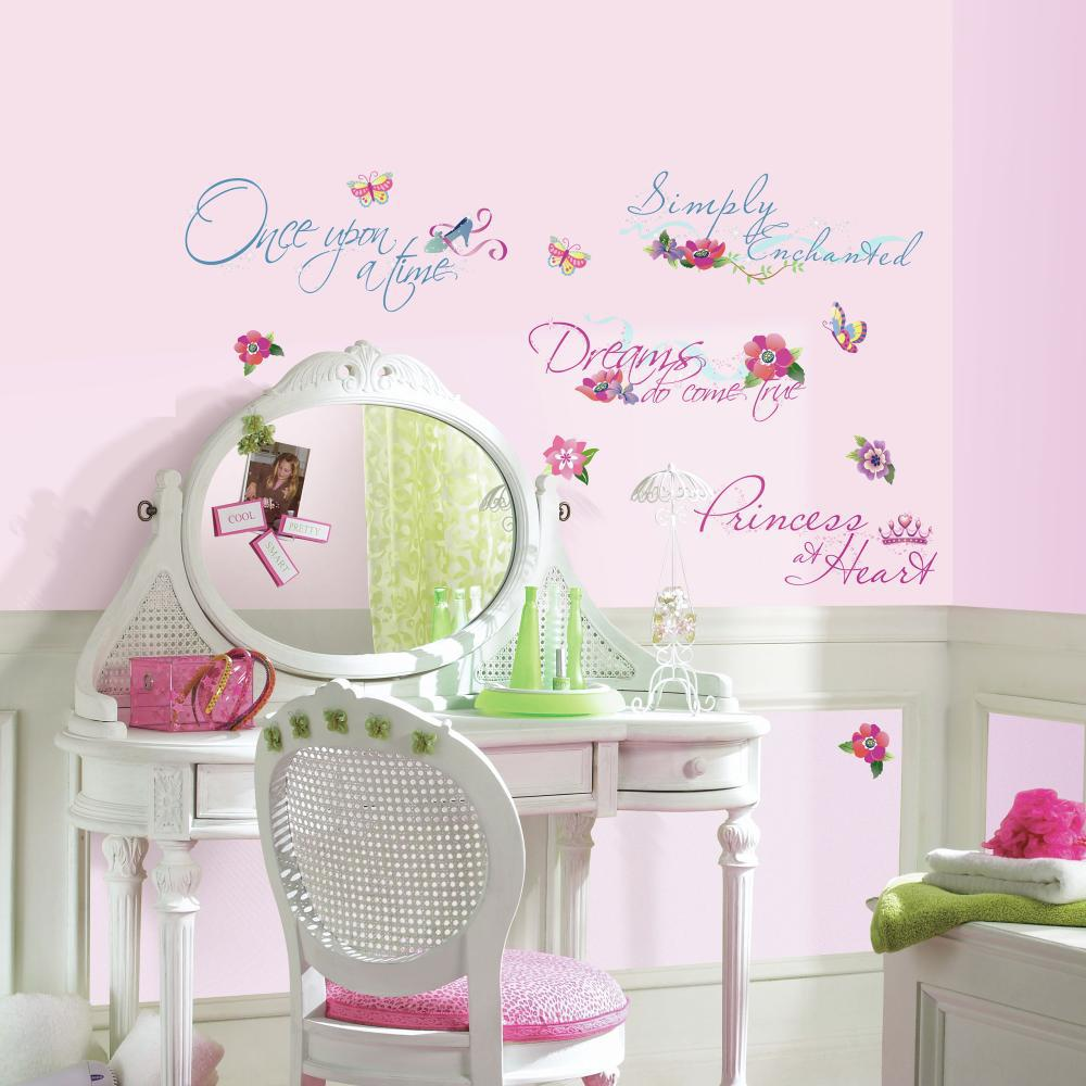 Disney Princess-Princess Quotes Peel And Stick Decal