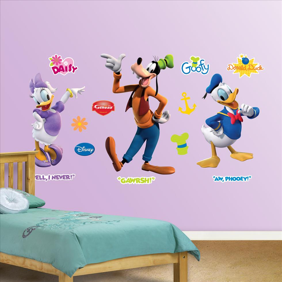 Donald, Daisy and Goofy-Fathead