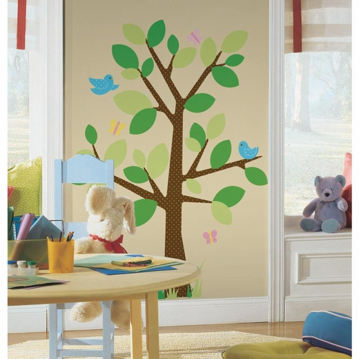 Dotted Tree Peel And Stick Decal