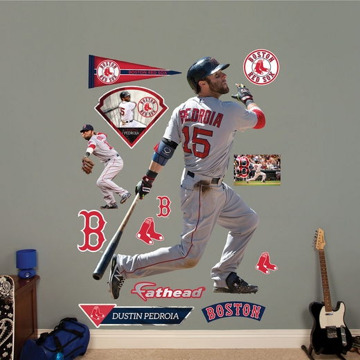 Dustin Pedroia Batting Fathead Wall Decals