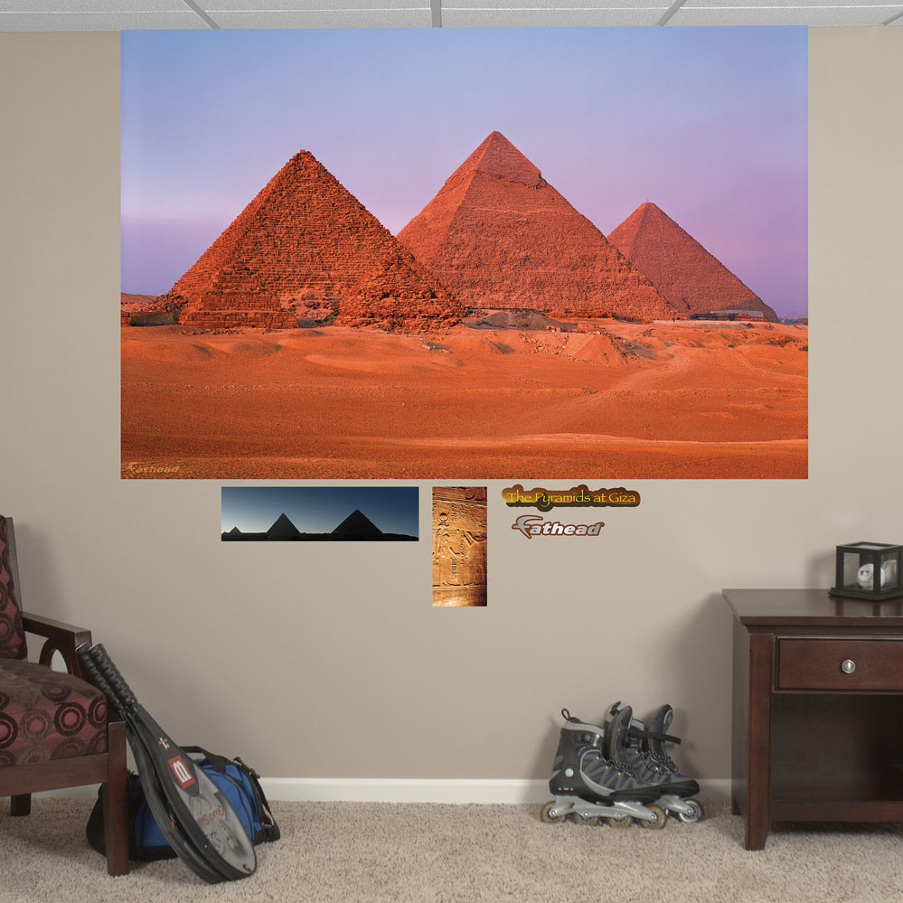 egyptian pyramids mural realbig wall decal