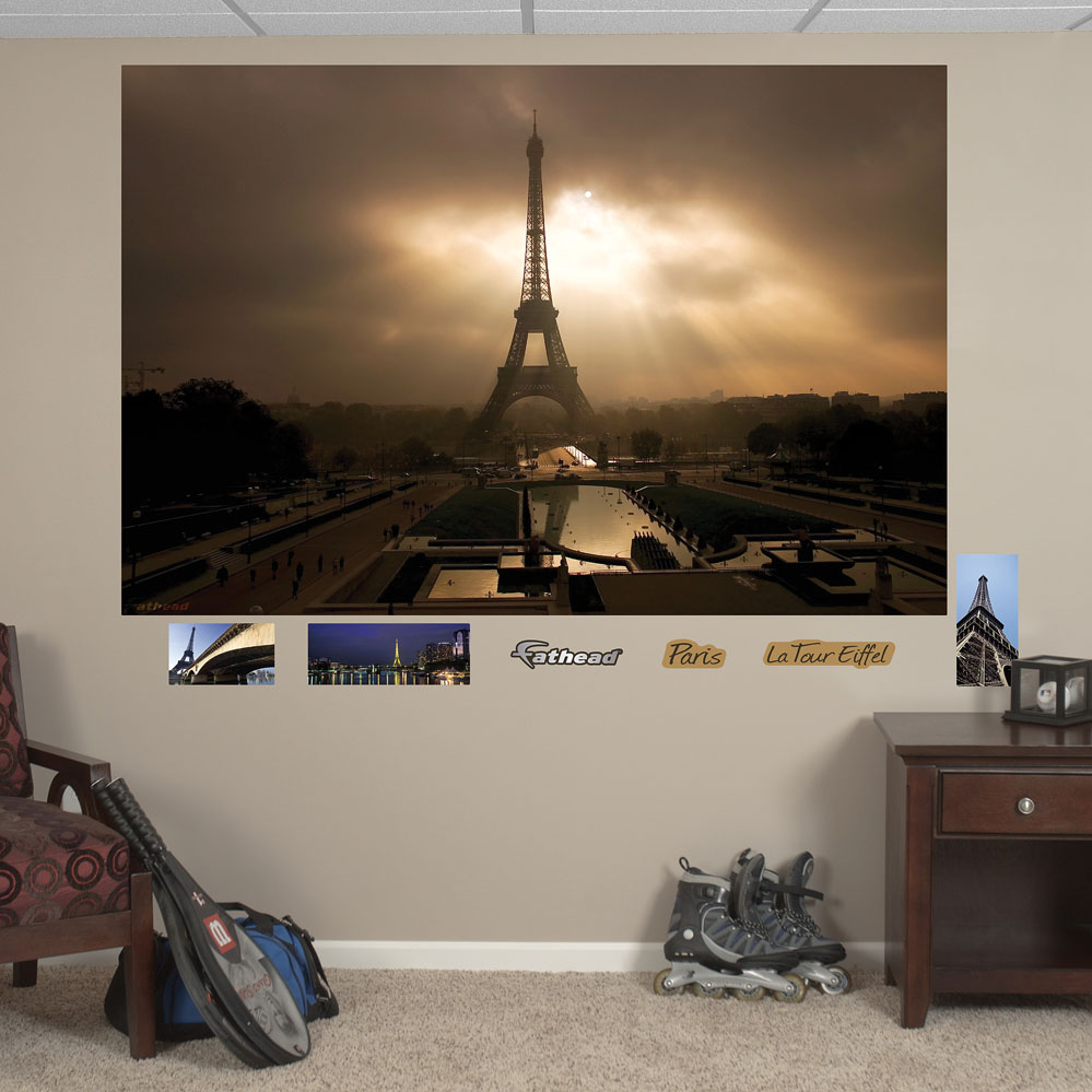 Eiffel Towerat Dusk Mural REALBIG Wall Decal