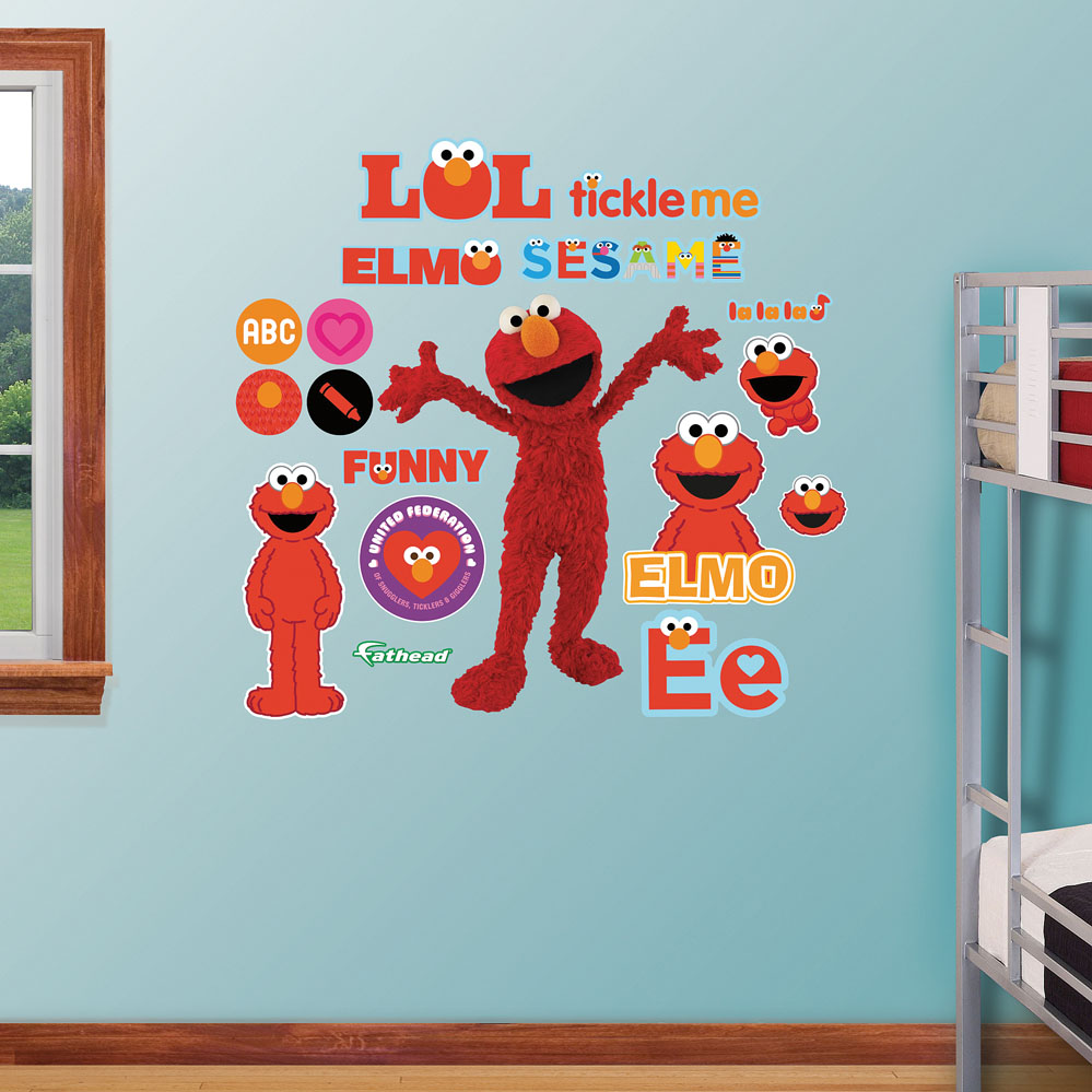 elmo realbig wall decal. Black Bedroom Furniture Sets. Home Design Ideas