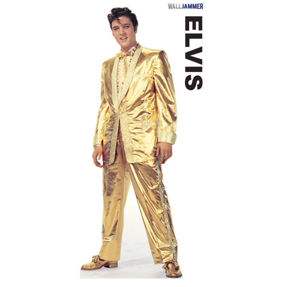 Presley-Gold Lame Suit Wall Decor