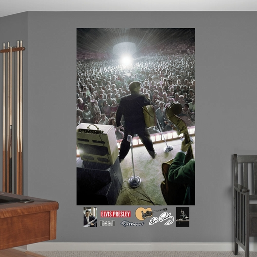 Elvis Presley Live on Stage Mural Wall Decal