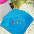 Embroidered Primary Name Blue Beach Towel