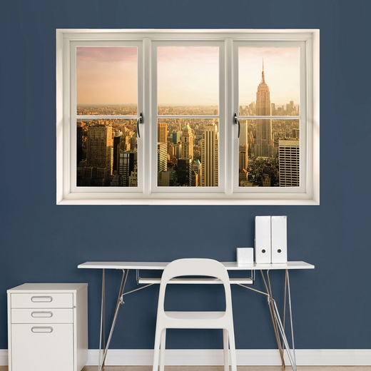 Empire State Building: Instant Window Wall Decal