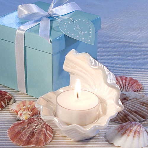 Exceptional Shell Design Candle Favors