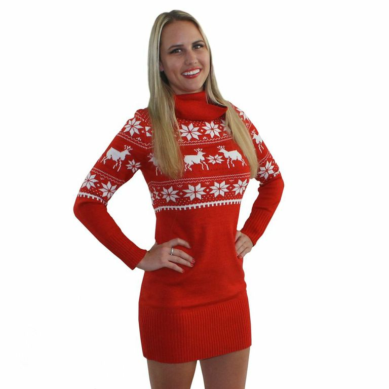 Christmas Party Dress Up Games: Fair Isle Reindeer Ugly Sweater Dress