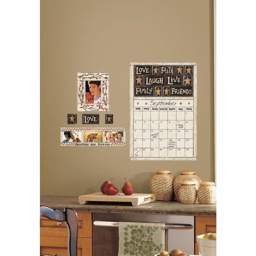 Family and Friends Peel And Stick Dry Erase Calendar