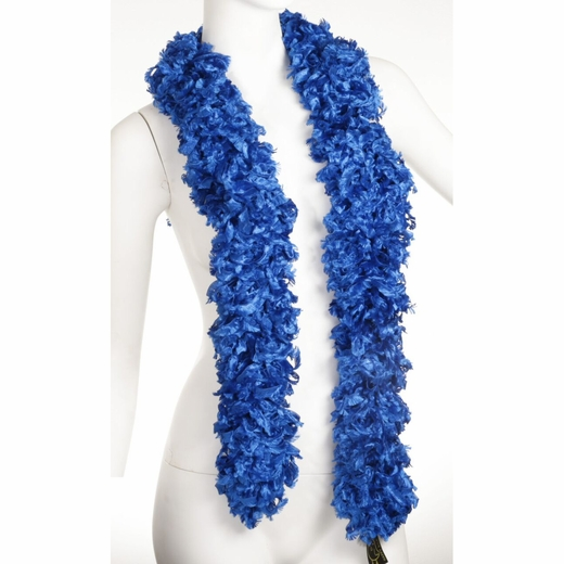Faux Blue Featherless Boa (6', 185 grams)