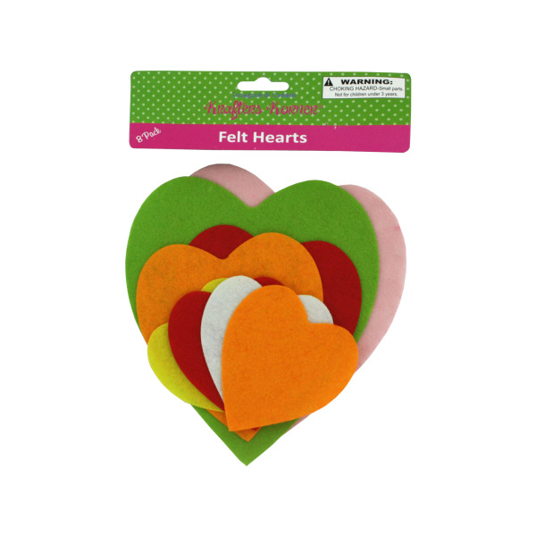 Felt Heart Shape Cut-Outs
