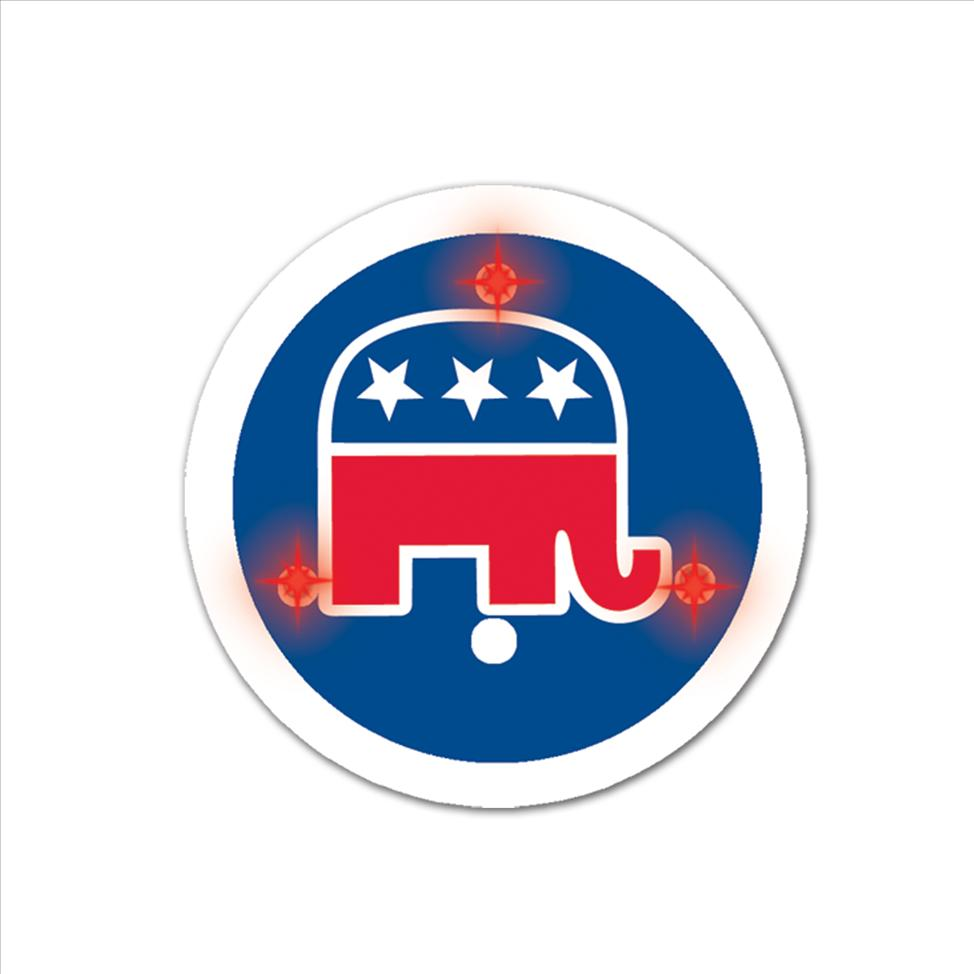 Flashing Republican Button