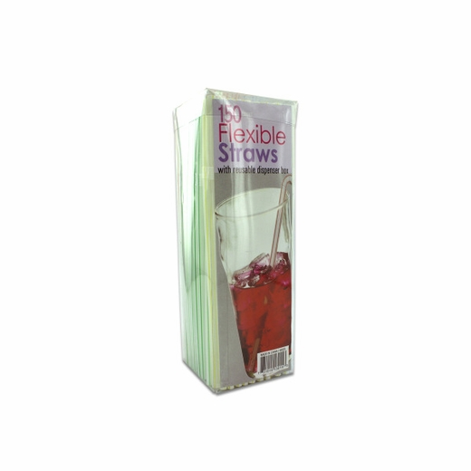 Flexible Straws With Dispenser Box