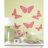 Flocked Butterfly Peel And Stick Decal