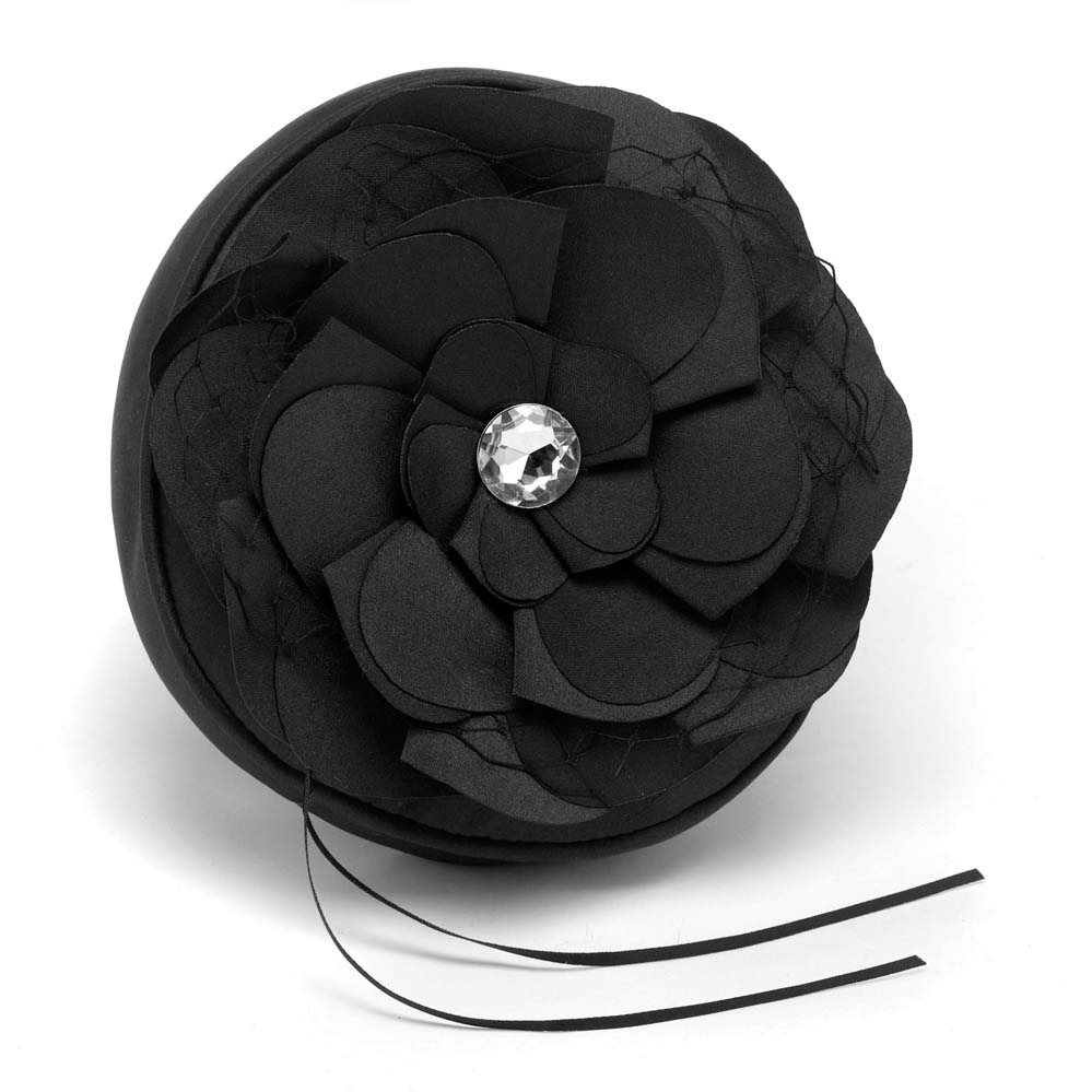 Floral Fantasy Black Petite Pillow