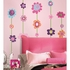 Flower Stripe Peel And Stick Giant Wall Decal