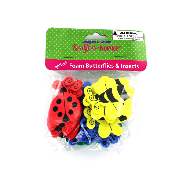 Foam Butterfly And Insect Shapes