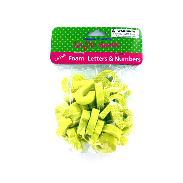 Foam Numbers And Letters