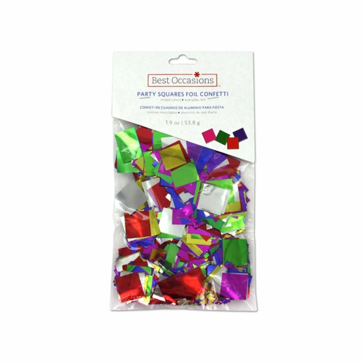 Foil Confetti In Squares Mixed Colors