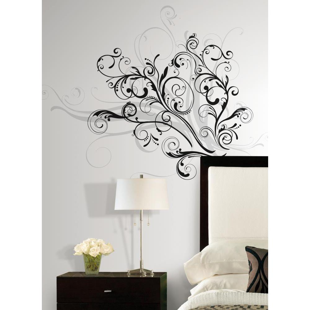 forever twined peel and stick giant wall decal. Black Bedroom Furniture Sets. Home Design Ideas
