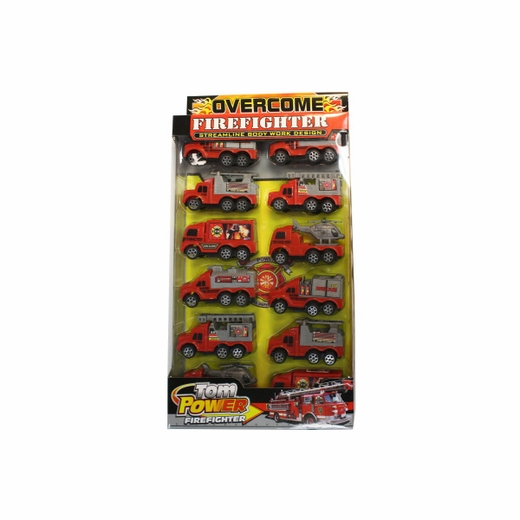 Friction Action Firetruck Set