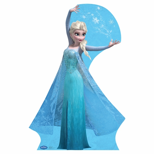 Frozen Elsa With Snowflakes Cardboard Cutout