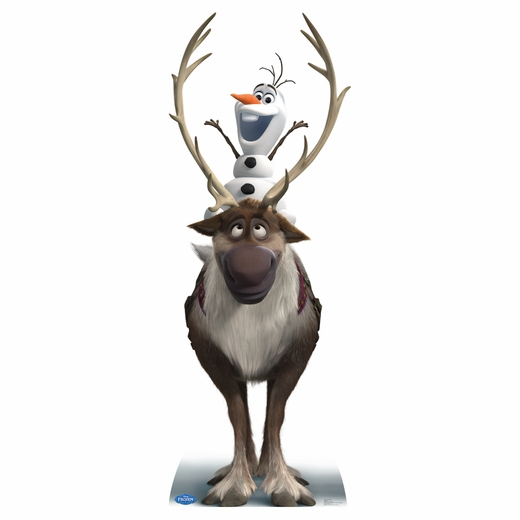 Frozen Sven And Olaf Cardboard Cutout