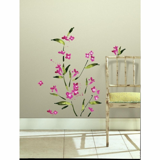 Fuchsia Flower Arrangement Decal