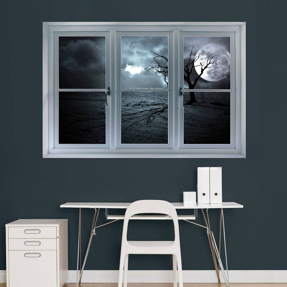 Full Moon: Instant Window REALBIG Wall Decal