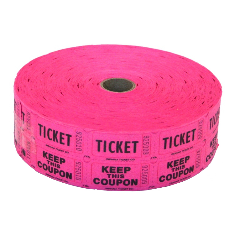 Fuchsia Double Raffle Ticket Roll
