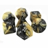Chessex Gemini Black And Gold With Silver Polyhedral 7 Dice Set